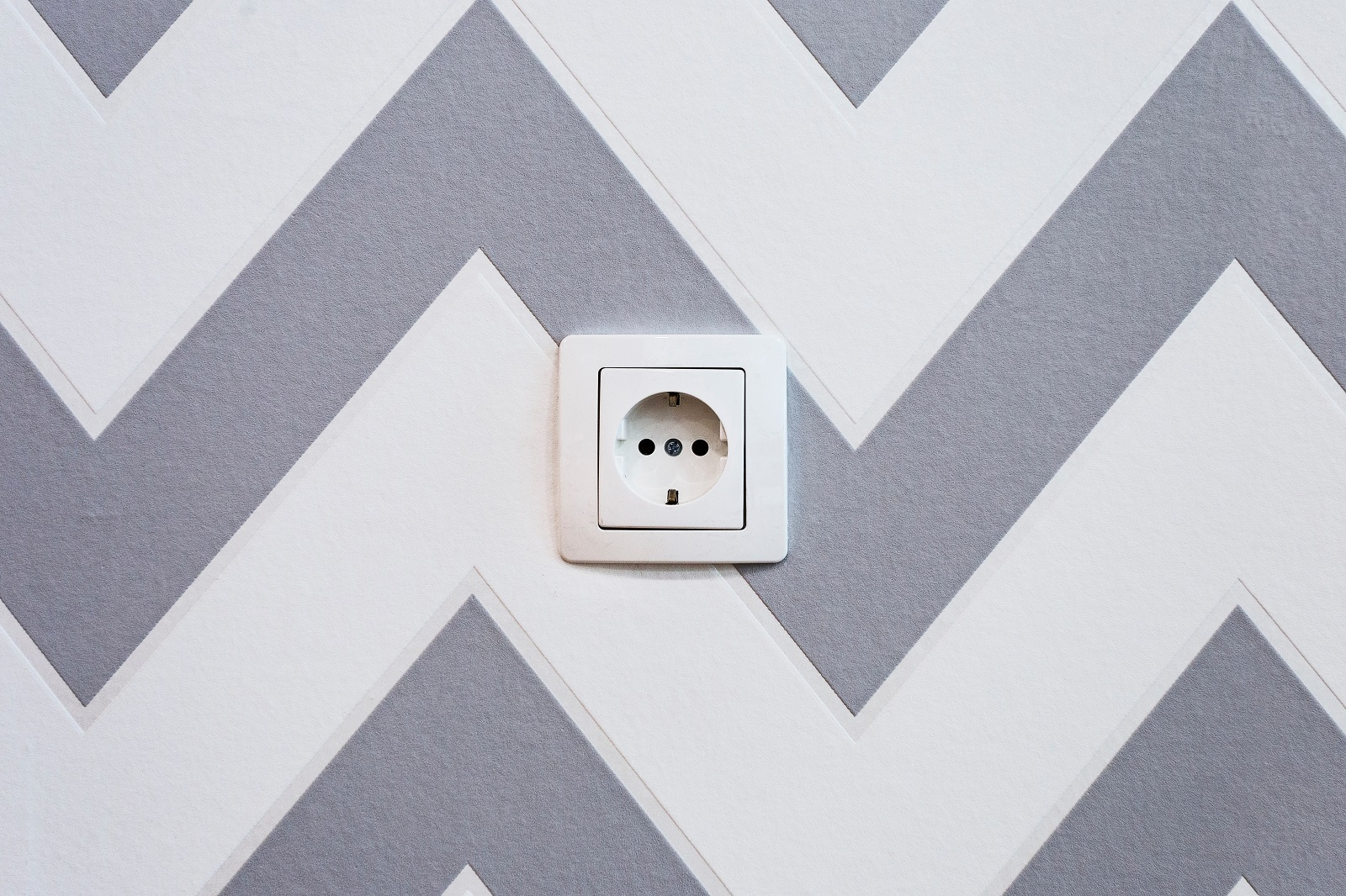 A photo of a European power outlet